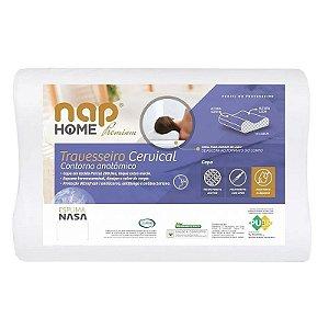 Travesseiro Cervical Nap Home Premium Ortopedico Contorno Anatomico Espuma Nasa TRCERP01