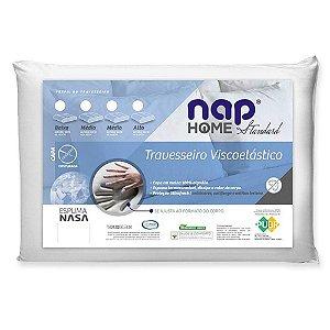 Travesseiro Viscoelastico Nap Home Standart Espuma Nasa TR10S01 Perfil Baixo 10 cm