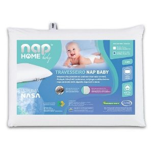 Travesseiro Nap Baby Infantil Hipoalergenico Espuma Nasa a partir de 1 Ano TRINB01