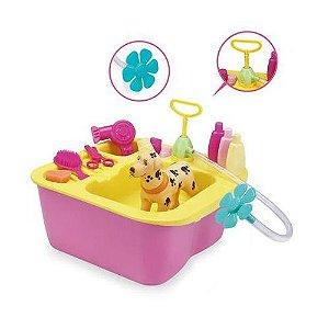 Acqua Pet Brinquedo para Banho Cachorro Pet Shop Lavatório XPlast Home Play
