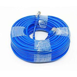 Cabo de Rede 30 Metros Internet RJ45 Cat 5E Lan Crimpado Azul
