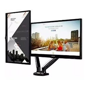 Suporte Para 2 Monitores Articulado de Mesa com Pistão 15 a 27 F160N ELG