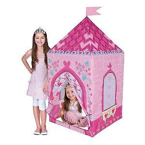 Barraca Princesa Love Toca Tenda Castelo Casinha Infantil Rosa DM Toys