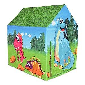 Casa Dinossauro Brinquedo Barraca Verde Toca Tenda Infantil DM Toys