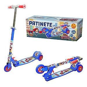 Patinete New Top Radical 3 Rodas Infantil Suporta até 50kg Ajustavel DM Toys