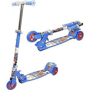 Patinete New Top Radical 3 Rodas Infantil Suporta até 50kg  DM Toys