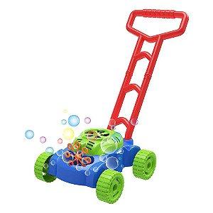 Lançador Maquina Andador Carrinho Mania de Bolha Bolhas de Sabão DM Toys DMT5624