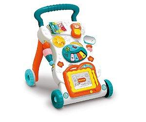 Andador Infantil Musical Didático Educativo Empurrador Bebê com Som e Acessorios BW061