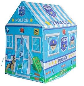 Barraca Infantil Toca Menino Tenda Casinha Azul Policial Importway BW133P Policia