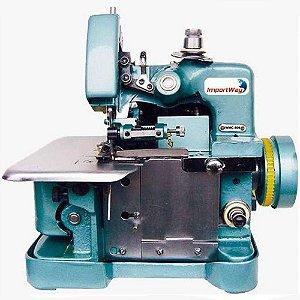 Overlock Máquina de Costura Semi Industrial Overloque Portátil 3 Linhas Importway IWMC-506