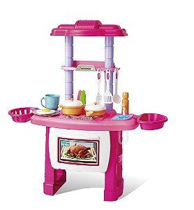 Cozinha Divertida Brinquedo Kit Infantil Completa Master Chef 43 Pçs Importway BW091