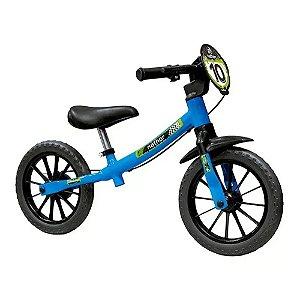 Balance Bike Masculina 03 Bicicleta de Equilibrio Aro 12 Sem Pedal Menino Azul Nathor