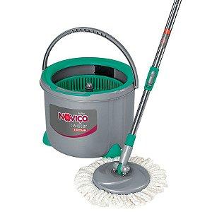 Mop Twister Esfregão Giratório para Limpeza Balde 7 Litros Bettanin BT1902 Noviça
