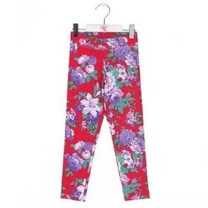 Calça Legging Infantil Lobinha Floral Rosa