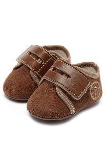 Tênis Pimpolho Bebê Camurça Marrom Velcro
