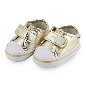 Tênis Pimpolho Bebê - Menina Dourado