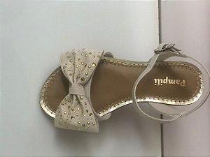 Sandália Pampili Cherrie Dourada Nude
