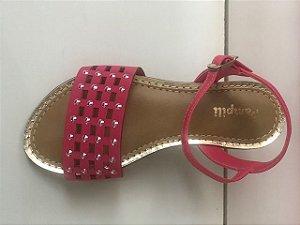 Sandália Pampili Cherrie Dourada Pink Batom
