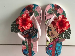 Chinelo Ipanema Barbie Tropical Rosa/ Verde