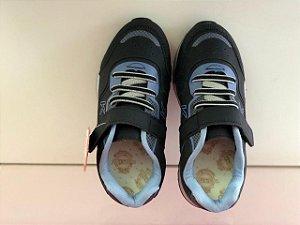 Tênis Kidy Style Preto/ Azul-jeans