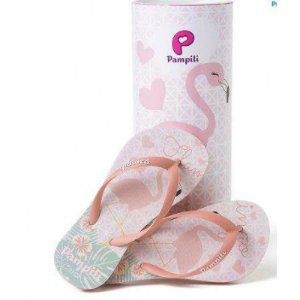 Chinelo Pampili Love Flamingo Coral