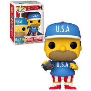 Funko Pop Television: The Simpsons - U.S.A Homer #905