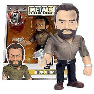Boneco Rick Grimes M180 - The Walking Dead AMC - Metals Die Cast