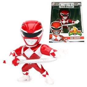 Boneco Red Ranger M400 - Mighty Morphin Power Rangers - Metals Die Cast
