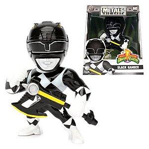 Boneco Black Ranger M401 - Mighty Morphin Power Rangers - Metals Die Cast