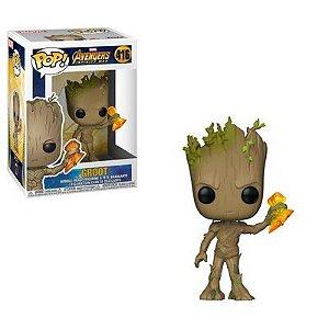 Funko Pop Avengers Infinity Wars : Groot (Infinity War) (with Stormbreaker) #416