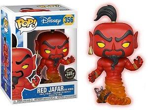 Funko Pop Disney Red Jafar - Genie Glow In The Dark - Exclusivo Chase  #356