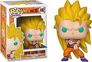 Funko Pop DragonBall Z Super Saiyan 3 Goku #492 Exclusivo Gamestop