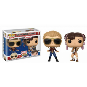 Funko Pop Games: Marvel Vs Capcom - Captain Marvel Vs Chun-Li #Pack2