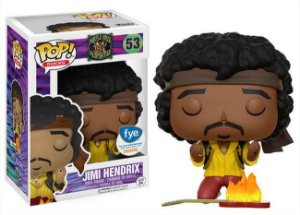 Funko Pop Jimi Hendrix Monterey Guitar On Fire Exclusivo F.Y.E. #53