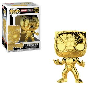Funko Pop Marvel Studios Black Panther (Gold Chrome)  # 383