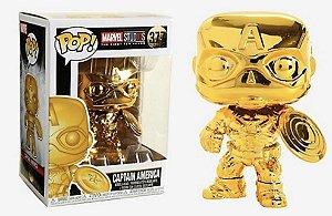 Funko Pop Marvel Studios Captain America (Gold Chrome)  # 377