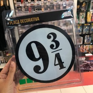 Plataforma 9 3/4 - Placa Decorativa