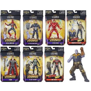 Wave Completa -  Marvel Legends Series | Avengers Infinity War - Best of 2019 - Baf Monte o Thanos
