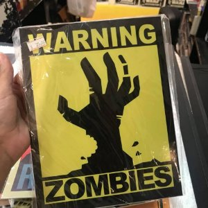 Zombies - Placa Decorativa