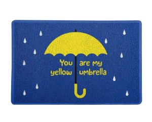 Capacho 60x40cm Yellow Umbrella  - How I Met Your Mother