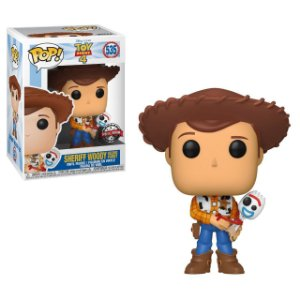 Funko Pop: Toy Story 4 - Sheriff Woody and Holding Forky (Exclusive) #535