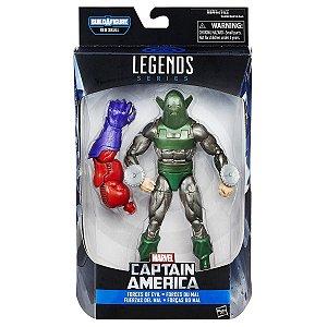 Marvel's Whirlwind Marvel Legends Series   Captain America - Baf Monte o Red Skull