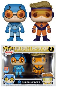 Funko Pop Super Heroes: blue beetle & booster gold  #Pack2
