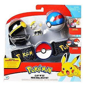 Pokemon - Cinto Para Treinador - Poke Ball Belt Set