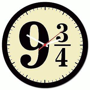 Relógio de parede - Harry Potter  Plataforma 9 3/4