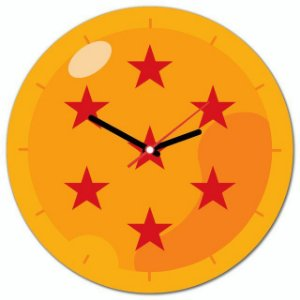 Relógio de parede Esfera do Dragão Dragon ball Goku