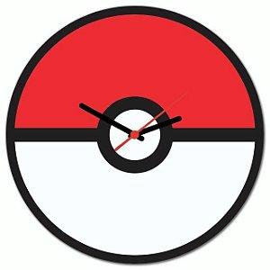 Relógio de parede Pokemon Pokebola Pokeball