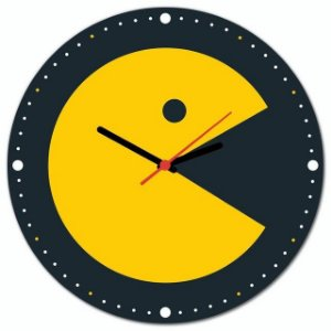 Relógio de parede Pacman Atari Come Come