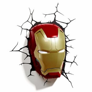 Luminaria Mascara Homem De Ferro 3D Ironman