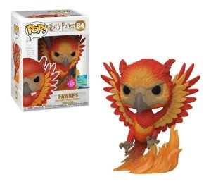 Funko Pop Movies: Harry Potter - Fawkes (Flocked) SDCC #84  *MKP